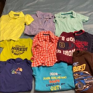 10 size infant boys 12 months shirts and onesies